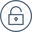 Unlock Padlock Secure Icon