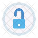 Unlock Unsecure Button Icon