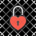 Padlock Love Heart Icon