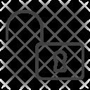 Unlock Web Mobile Icon