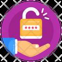 Password Protection Unlock Broken Lock Icon