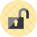 Unlock Unsafe Security Icon