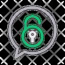 Unlock Chat Icon