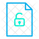 Unlock Document Page Icon