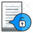 Unlock Document File Icon