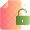 File Unlock Padlock Icon