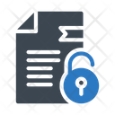 Unlock File Document Icon
