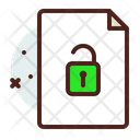 File Unlocked Icon