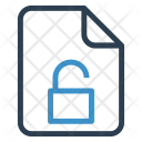 Unlock File Sheet Icon