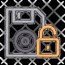 Unlock Floppy Icon