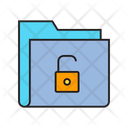 Folder Unlock Security Icon