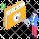 Folder Key Unlock Folder Folder Passkey Icon
