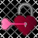Unlock Heart Icon