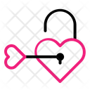 Unlock Key Love Icon