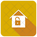 Unlock House Unsecure Icon