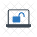 Unlock Accessed Laptop Icon