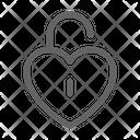 Unlock Love Heart Icon