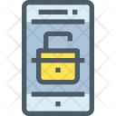 Unlock Security Mobile Icon