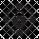 Unlock Sharing Network Icon