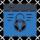 Unlock Webpage Icon