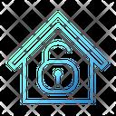 Unlock Wifi House Smarthome Technology Icon