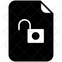 Unlocked File Unsafe Icon