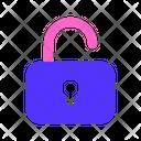 Unlocked Lock Password Icon