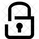 Unlocked Security Lock Icon