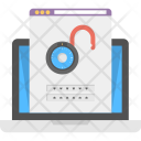 Insecure Website Unlocked Icon