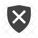 Unprotected Shield Unsafe Icon