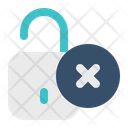 Unsafe Unsecure Unlock Icon