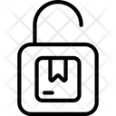 Unsecure Parcel Lock Logistics Icon