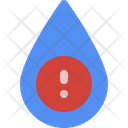 Unsafe Water Icon