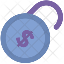 Unsecure Dollar Currency Icon