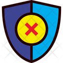 Shield Unprotected Security Icon