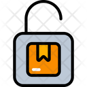 Unsecure Parcel Lock Logistics Icon