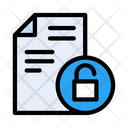 File Unlock Unsecured Icon