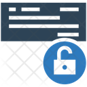 Unsecurity Card Card Unlock Icon