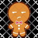 Unsure Face Gingerbread Icon
