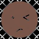 Unsure Wink Mood Icon
