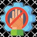 Untact Industries Stop Work No Work Icon