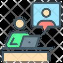 Untact Meetings Meetings Online Icon
