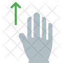 Up Swipe Finger Icon