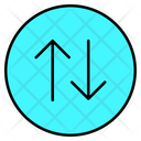 Up And Down Mobile Data Data Icon