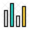 Up And Down Graph Bar Graph Data Analysis Icon