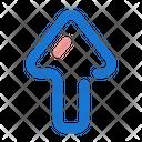 Up Arrow North Icon