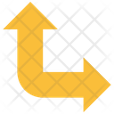 Up Arrow Intersection Turn Icon