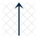 Arrow Straight Ascending Icon
