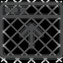 Upload Up Arrow Direction Arrow Icon