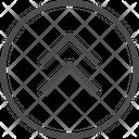 Up Chevrons Circle Icon